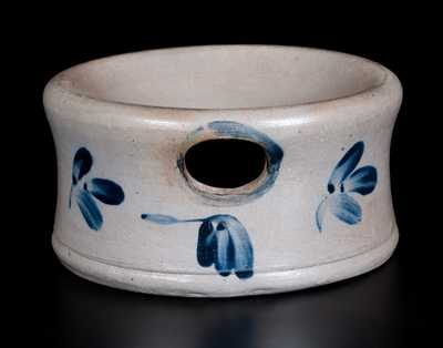Stoneware Spittoon with Floral Decoration, Baltimore, circa 1860