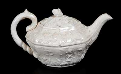Rare AMERICAN POTTERY CO. / JERSEY CITY, N.J. Molded Earthenware Teapot