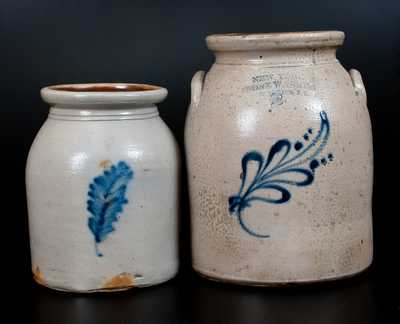 Lot of Two: Stoneware Jars incl. NEW YORK STONEWARE CO. Example