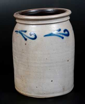 1 Gal. Stoneware Jar with Slip-Trailed Decoration, New Jersey