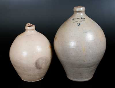 Two New York State Stoneware Jugs, second quarter 19th century
