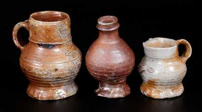 Lot of Three: Salt-Glazed Stoneware Vessels, Raeren or Aachen, Germany, late 15th or early 16th century