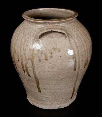 Fine Pottersville, Edgefield District, SC Stoneware Jar with Impressed Inverted