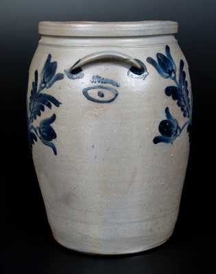 Very Rare Baltimore Stoneware Jar w/ Horse Head and Eye Decorations, c1850