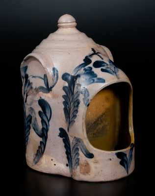 Very Rare Large-Sized Stoneware Chick Waterer, Remmey, Philadelphia, circa 1875