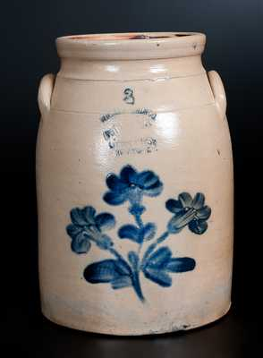W. A. MACQUOID New York City Stoneware Jar w/ Floral Decoration