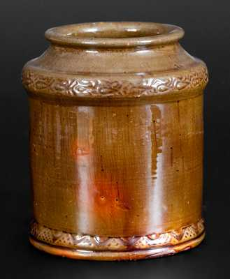 Jacob Heart (Chambersburg, PA) Redware Jar w/ Coggled Decoration, c1840