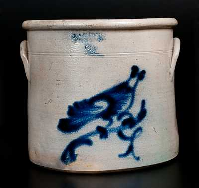 J. & E. NORTON / BENNINGTON VT Two-Gallon Stoneware Bird Crock
