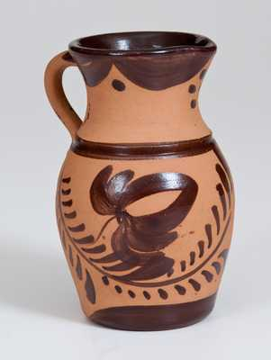 Tanware Pitcher, New Geneva or Greensboro, PA origin, circa 1880