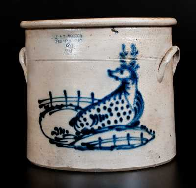 J. & E. NORTON / BENNINGTON, VT Three-Gallon Stoneware Deer Crock
