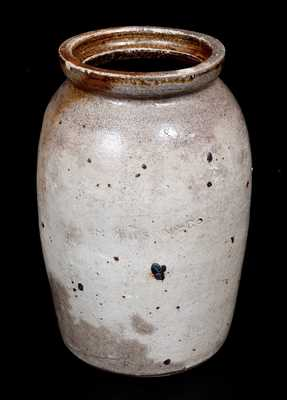 Rare H. WILSON & CO Stoneware Jar, African-American Potter Hiram Wilson, Guadalupe County, TX, 1869-87