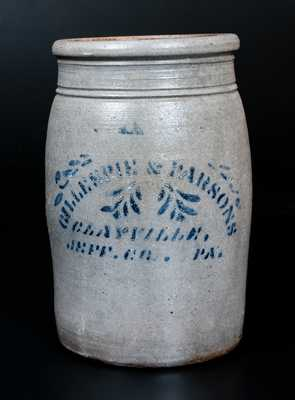 Western PA Stoneware Wax Sealer with CLAYVILLE, PA Advertising