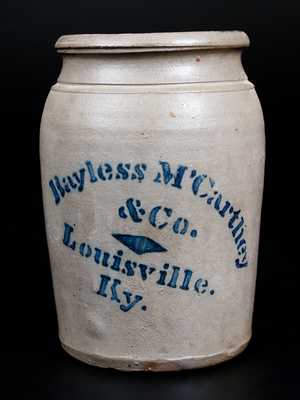 Bayless McCarthey & Co. / Louisville, Ky Stoneware Jar