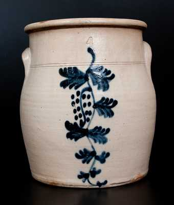 4 Gal. Stoneware Jar with Unusual Grapevine Decoration