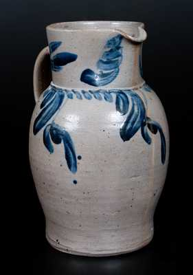 Stoneware Pitcher with Floral Decoration, Baltimore, circa 1850