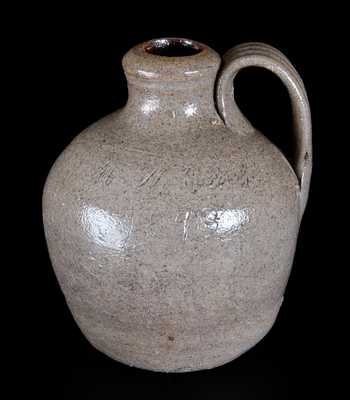 North Carolina Stoneware Jug Inscribed