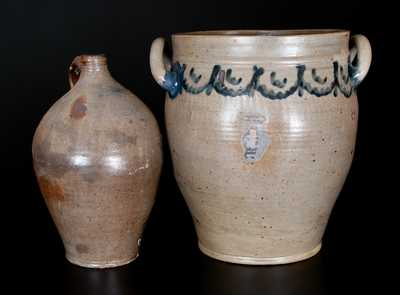 Lot of Two: Manhattan Stoneware Jar and D. GOODALE Stoneware Jug