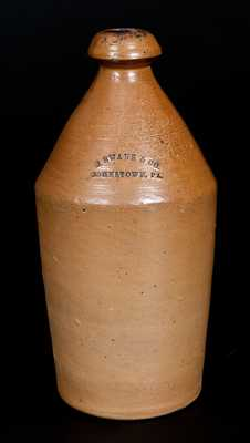 J. SWANK & CO. / JOHNSTOWN, PA Stoneware Bottle