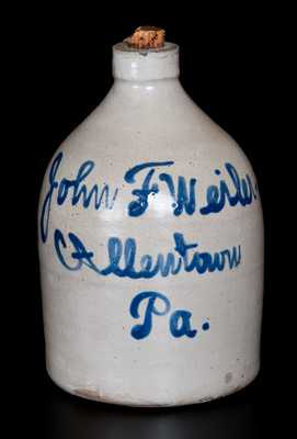 Allentown, PA Script Jug by Fulper, Flemington, NJ