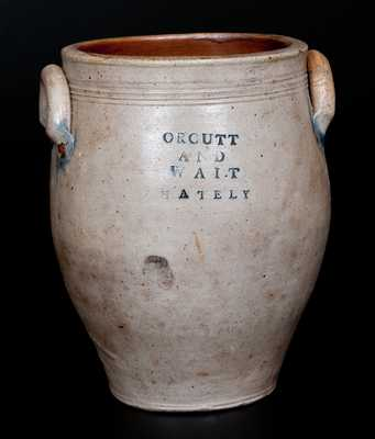 ORCUTT AND WAIT / WHATELY Ovoid Stoneware Jar