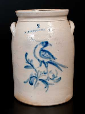 W. A. MACQUOID & CO. / POTTERY WORKS / LITTLE W 12TH ST. N.Y. Stoneware Bird Jar