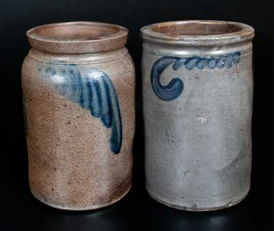 Lot of Two: Virginia Stoneware Jars, Strasburg and Richmond