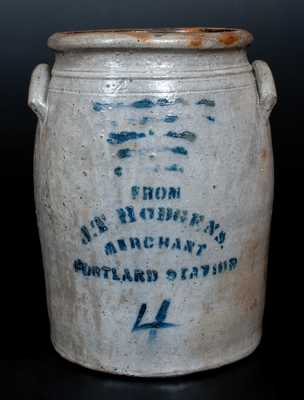 J. T. HODGENS / MERCHANT / PORTLAND STATION Western PA Stoneware Canner