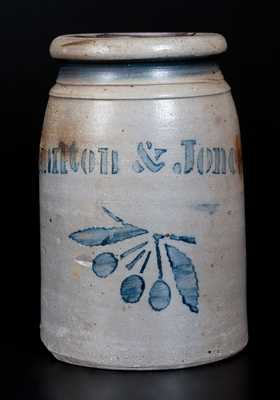 HAMILTON & JONES Stoneware Canning Jar with Cherries Decoration