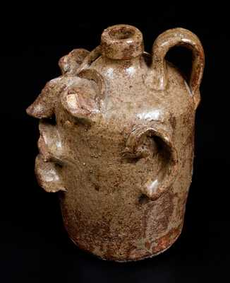 Rare and Important Edgefield, South Carolina, Stoneware Face Jug