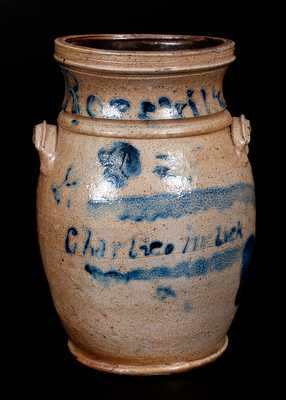 Diminutive Stoneware Churn Inscribed