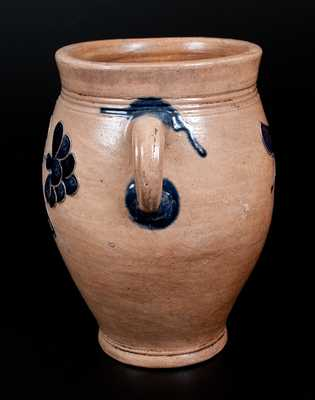 Stoneware Jar with Very Fine Incised Floral Decoration, Manhattan, circa 1800