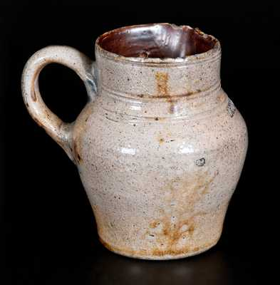 Important LYDIA FERREN, Charlestown, MA c1810 Stoneware Cream Pitcher