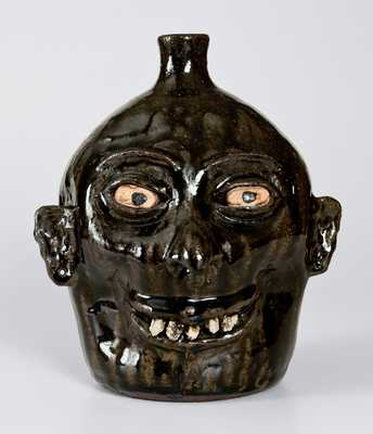 Lanier Meaders Stoneware Face Jug with Rock Teeth