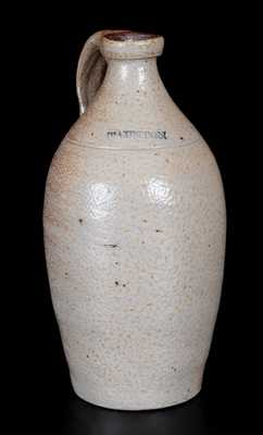 Fine Small-Sized Stoneware Jug Marked TAUNTON, probably J. W. Ingell & Co., circa 1835-1845