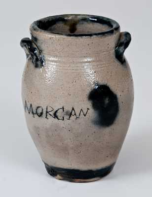 Important Miniature Ovoid Stoneware Jar Inscribed