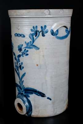 Unusual Philadelphia Stoneware Water Cooler with Odd Fellows Chain Link Motif