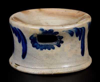 Cobalt-Decorated Stoneware Spittoon, Stamped