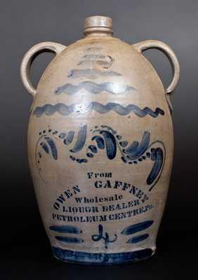Getty Amp Co Pittsburgh Pa Stenciled Stoneware Liquor
