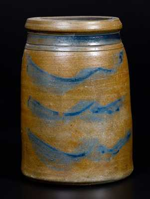 Western PA Stoneware Wax Sealer with Four-Stripe Decoration