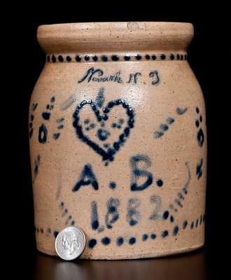 Attrib. Union Pottery Stoneware Jar, Inscribed