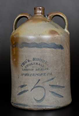 Unusual Five-Gallon Double-Handled MCKEESPORT, PA Advertising Jug