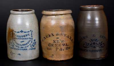 Lot of Three: Western PA Canning Jars by T. F. REPPERT, WILLIAMS & REPPERT, ENEIX & EVANS