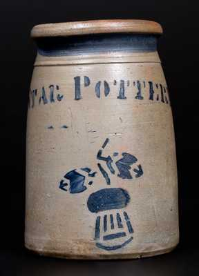 STAR POTTERY, Hamilton & Jones, Greensboro, PA Stoneware Thistle Jar