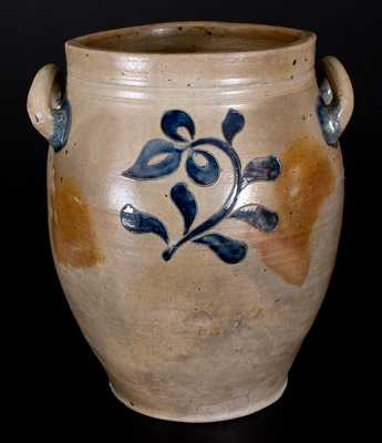 Three-Gallon New York City Stoneware Jar w/ Incised Decoration, late 18th or early 19th century