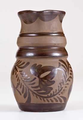 Fine Small-Sized Tanware Pitcher, New Geneva or Greensboro, PA origin, c1885