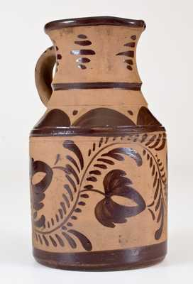Exceptional Tanware Pitcher, New Geneva or Greensboro, PA origin, circa 1885