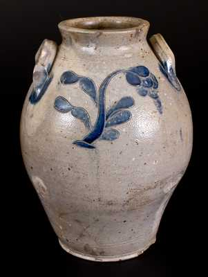 2 Gal. Ovoid Stoneware Jar with Incised Floral Decoration