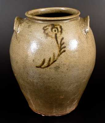Very Fine 6 Gal. Early Edgefield, SC Stoneware Jar with Slip