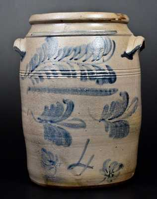 Four-Gallon Stoneware Jar attrib. David Greenland Thompson, Morgantown, WV