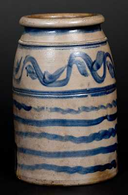 Western PA Stoneware Canning Jar with Profuse Striped Decoration